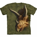 Dinosaur Triceratops Head Graphic T-shirt