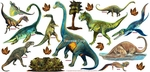 Jurassic World Removable Dinosaur Wall Stickers, 39 inch x 19 inch