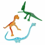 Bendable Dinosaur Toys Figures, 3 pcs