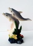 Dolphin Figure on Ocean Coral Base