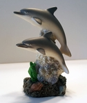 Dolphin Figure on Sea Coral Base