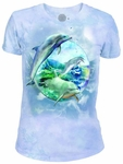 Dolphin Bubble Ladies T-shirt