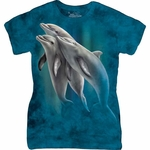 Three Dolphins Ladies T-shirt