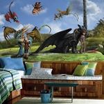 "How To Train Your Dragon Character XL Wallpaper Mural, 126"" x 72"""