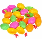 Dinosaur Toys Figures in Plastic Dino Eggs, 24 pcs