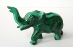 Elephant Malachite Figure