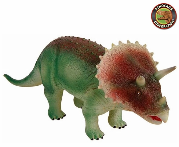 large soft and squeezable triceratops dinosaur toy
