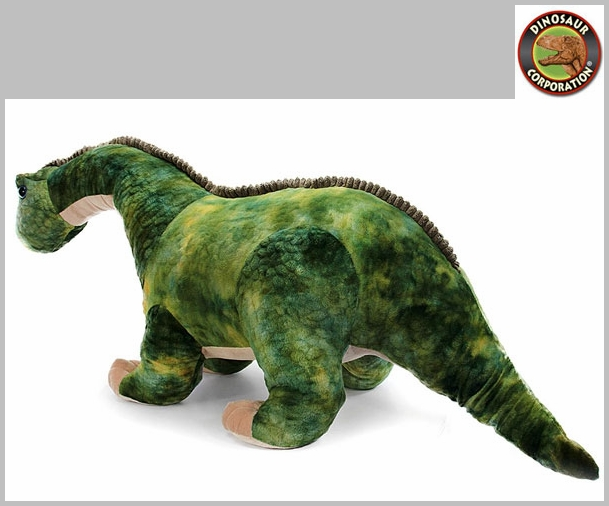 Giant Green Brachiosaurus Stuffed Dinosaur Toy With Roaring Sound