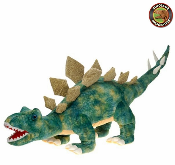 Giant Green Stegosaurus Stuffed Dinosaur Toy With Roaring Sound