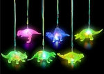 Flashing Dinosaur Necklace, 12 pcs