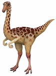 "Giant Gallimimus Dinosaur Wall Sticker 53"" x 39"""
