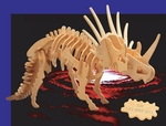 SPECIAL OFFER Giant Dinosaur Styracosaurus Woodcraft Bones Skeleton Kit, 27 inch