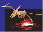 3D Giant Pteranodon Wood Craft Dinosaur Skeleton Kit, 47 inch, 3 PCS