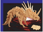 3D Giant Styracosaurus Wood Dinosaur Bones Skeleton Kits, 27 inch, 3 Sets