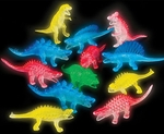 "Small Dinosaur Toys Glow in the Dark Figures, 5"" 12 pcs"