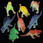 Glowing Dinosaur Toys plastic Figurines, 12 pcs, 5 1/2""