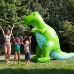 Giant Inflatable T-rex Dinosaur Sprinkler, 85 inch