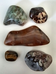 Gemstones Jasper and Tiger Eye