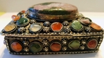 Jewelry Agate Silver Box