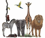 Jungle Safari Animals Wall Sticker Collection