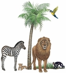 Jungle Wildlife Wall Sticker Collection #3