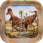 Jurassic World Deluxe T-rex Exclusive Dinosaur Lunch Plates, 9 inch, 96 pcs