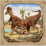 Wholesale Hunting With Dinosaurs T-REX Exclusive Beverage Napkins, 192 pcs