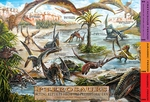 Jurassic World Flying Reptiles Pterosaurs Placemat