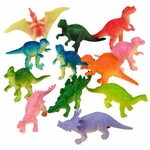 "Small Plastic Dinosaurs Toys Figures, 2"", 12 pcs"