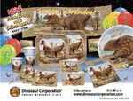 T-REX Hunting With Dinosaurs Exclusive Super Tableware for 8 Guests