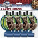 Jurassic World T-rex Dinosaur Blowouts, 8 pcs