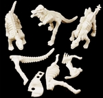 Small Dinosaur Dig Plastic Bones Skeletons, 1 pc
