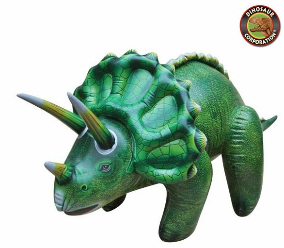 large inflatable triceratops dinosaur blow up toy 43 inches