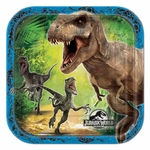 "Jurassic World Birthday Party Beverage Plates, 7"", 8 pcs"
