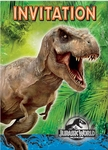 Jurassic World Birthday Party Invitations 8 pcs