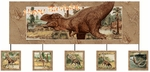 Deluxe T-rex Exclusive Dinosaur Birthday Party Banner, 12 pcs