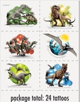 Jurassic World Kids Temporary Tattoos, 24 pcs