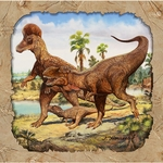 "SPECIAL OFFER Tyrannosaurus rex ""Hunting With Dinosaurs"" Dinosaur Lunch Napkins, 16 pcs"