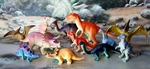 "Small Dinosaur Toys Play Set, 12 pcs, 2"" - 5"""