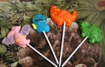 Dinosaur Lollipops Kids Party Favor, 12 pcs