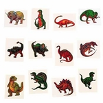 Kids Temporary Dinosaur Tattoos, 72pcs