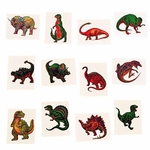 Kids Dinosaur Temporary Tattoos, 12 pcs