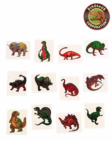 Kids Dinosaur Temporary Tattoos | Dinosaur Corporation