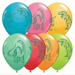 "Dinosaur Birthday Party Balloons, 11"", 12 Pcs"