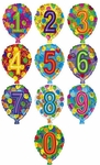 Birthday Numbers Balloons, 18 inch