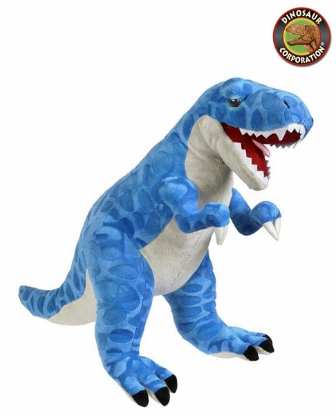 Jumbo Blue T Rex Dinosaur Plush Toy Stuffed Prehistoric Animal