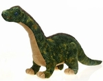"Large Green Soft Brachiosaurus Dinosaur Toy, 19"", 3pcs."