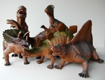"Large Realistic Jurassic World Models Dinosaurs Toys Figures Set, 12"" - 17"", 6 pcs"