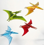"Large 3D Hanging Dinosaur Gliders, 21"",  4 pcs"