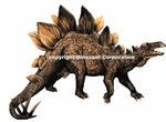 "Large Stegosaurus Wall Sticker, 36"" x 27"""